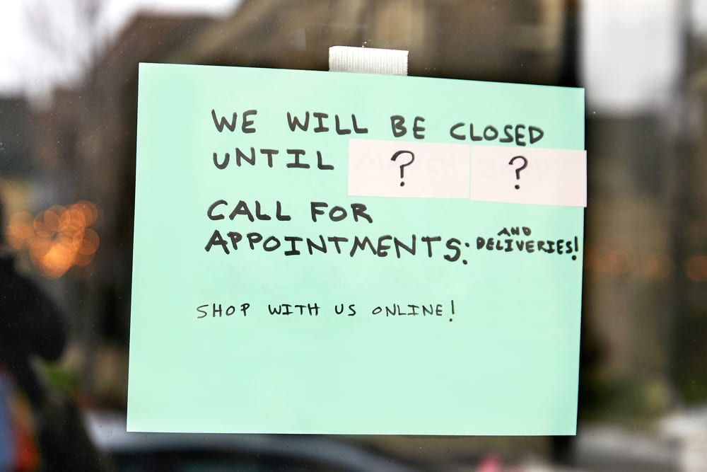 closed until question sign