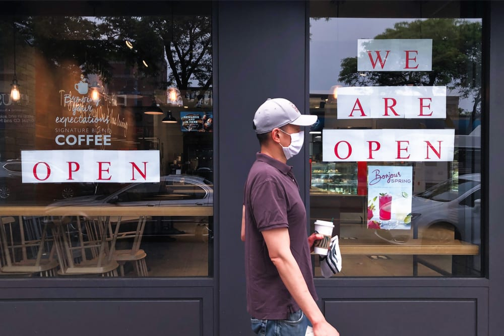 NYC coffee shop reopen