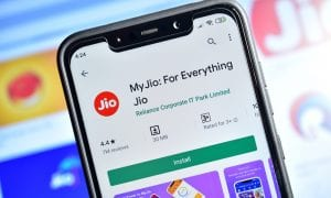 Jio app on smartphone