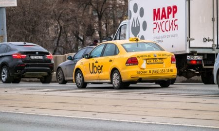 Uber car in Russia