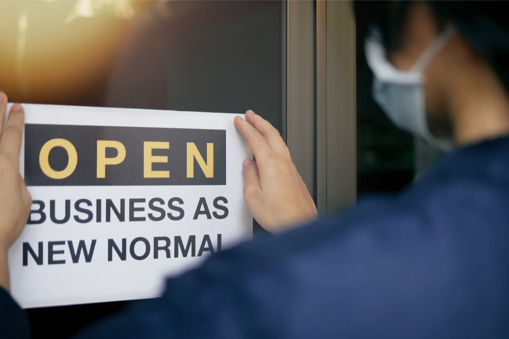 open business new normal sign