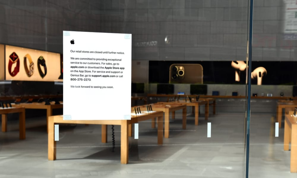 Apple Stores Unlikely To Reopen Before 2021