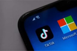 TikTok and Microsoft apps