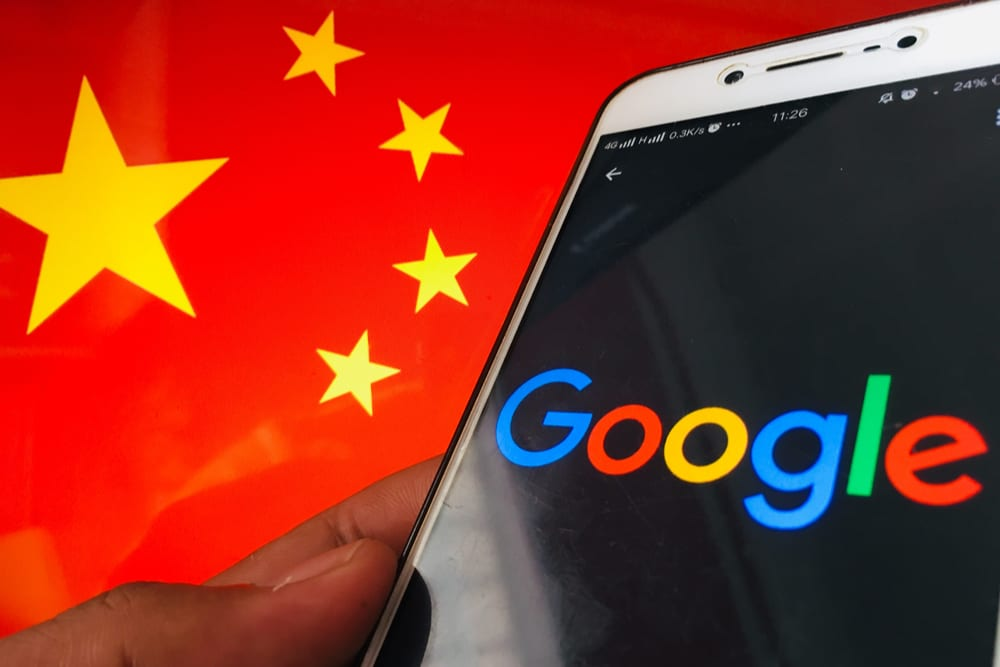 Google app and Chinese flag