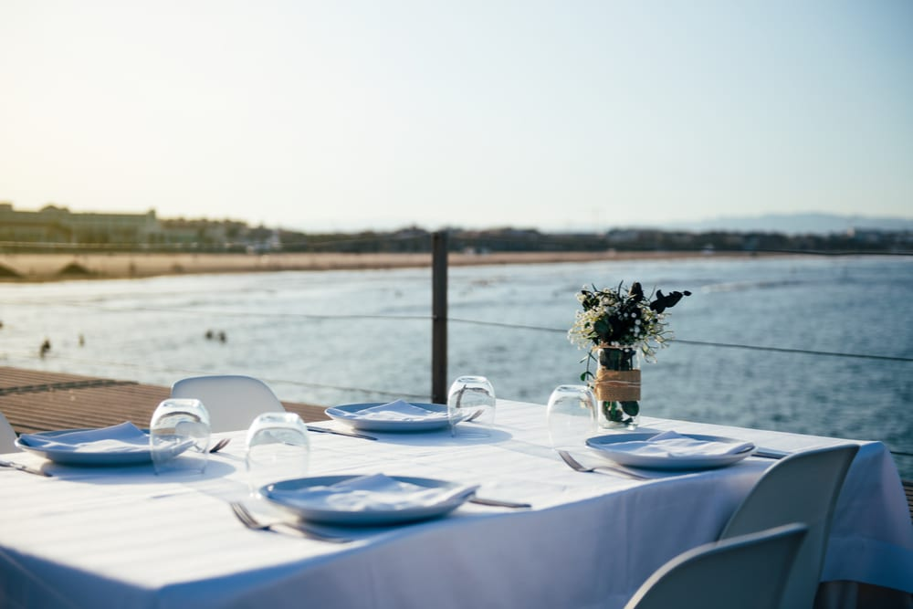 fine dining outdoor table