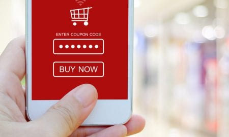 coupon app on smartphone