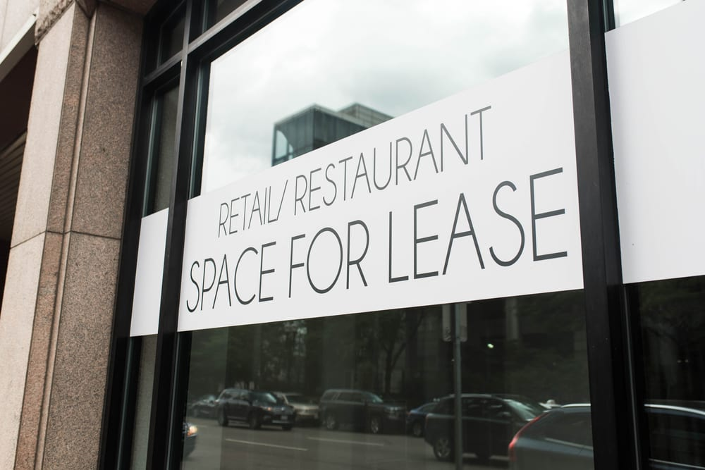 Space for lease sign