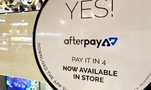 Afterpay pay it in 4 sign