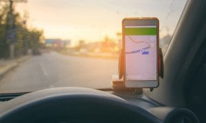 Google Maps app in car