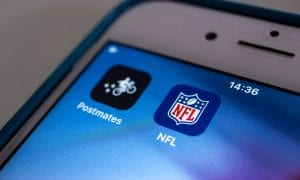 postmates, LA Rams, real time delivery