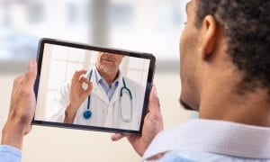 telehealth with doctor on screen