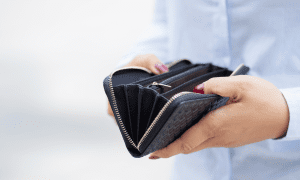 consumer with wallet